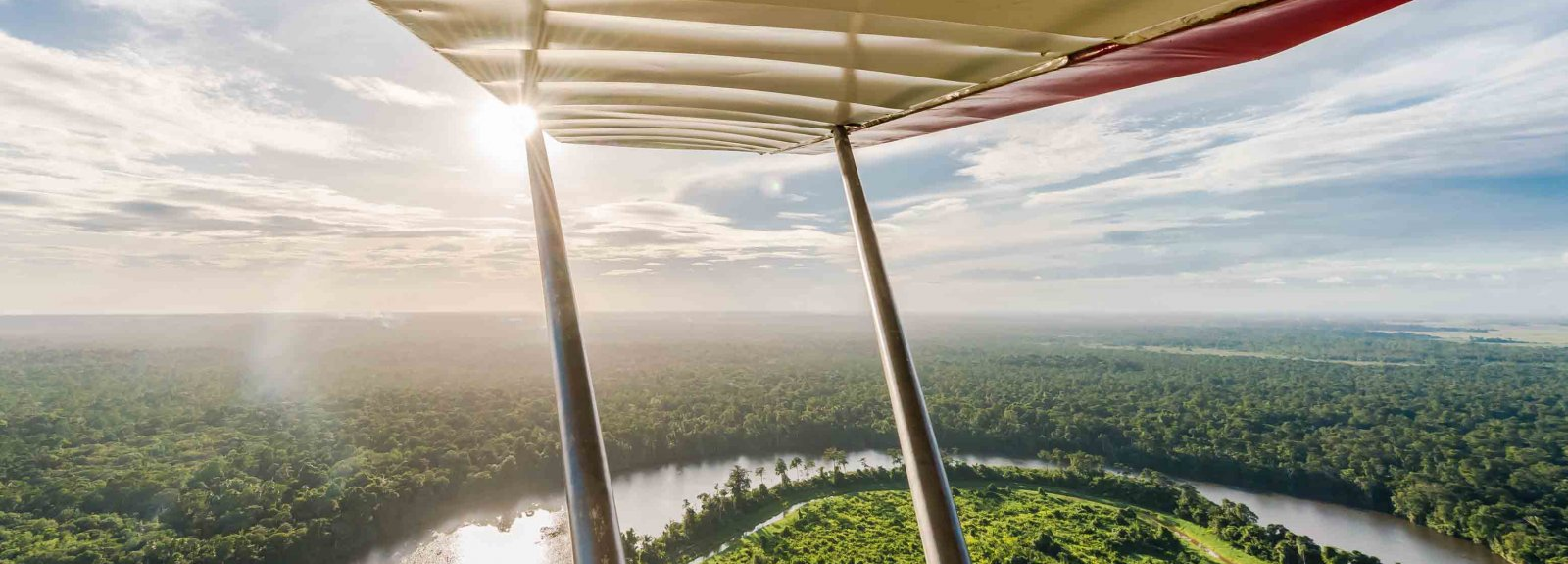 Guyane vue du ciel à Mana