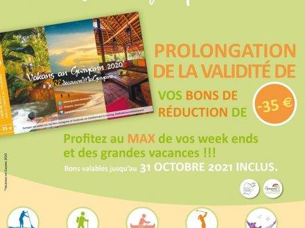 Les Bon Vakans Guyane 2020 sont prolongés au 31 octobre